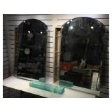 Framed hall mirror 43 x 29 inches & 2 mirrored