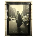 Framed James Dean poster sized to 28 x 39 inches