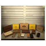 Collection of cigar boxes & some cigars