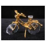 Swarovski crystal bicycle, approx 1 3/4 inches