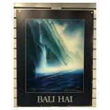 Large Hanalei Bay poster signed by artist George