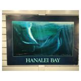 Large Bali Hai poster signed by artist George