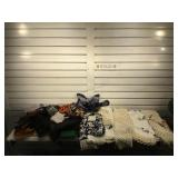 Handkerchiefs, some silk & embroidered linens