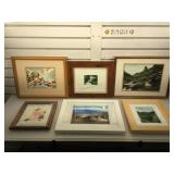 Signed photography & framed wall art