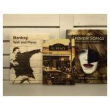 Lot of books - El Monte history book, Banksy Wall