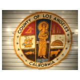 Large vintage cloth seal of the County of Los