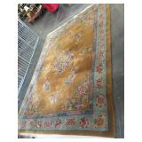 Large 9x12 high pile wool area rug