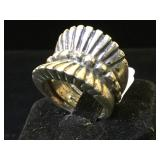 Sterling ring, size 7, 12.6g