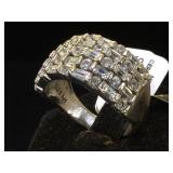 Sterling & Cubic Zirconia ring, size 10