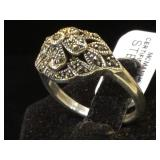 Sterling Marcasite ring, size 9