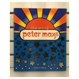 Autographed Peter Max hardcover book The Art of