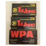 150 rounds 9mm ammo - Tulammo and WPA 115 Gr FMJ