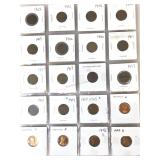 pennies, 14- I dian Heads & 6- Lincolns