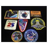 Collection of 8 vintage NASA patches