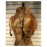 Taxidermy fox pelt made into collar - made by