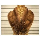 Taxidermy sewn mink collar - made from 4 small
