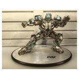 12 in tall Transformer composite statue on base -