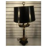 Bronze and brass Chapman table lamp - stone base