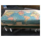 Vintage 1952 Rand McNally schoolhouse world map -