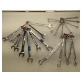 Lot of assorted open end wrench sets - Craftsman,