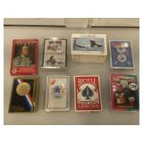 Lot of playing cards, trading cards and Olympic
