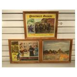 3 framed vintage motion picture lobby cards,