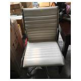 Rolling white and chrome office chair - needs a