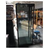 6.5 foot tall lighted curio cabinet with glass