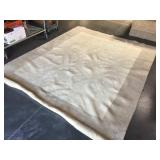 High pile wool area rug 94x116 inches - looks