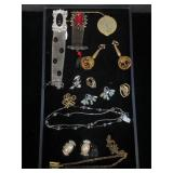 Costume jewelry earrings, necklaces & more
