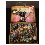 Costume jewelry including earrings, phone charms,