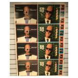 1986 uncut sheet Max Headroom collector cards