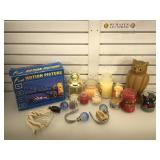 Candles, motion picture frame & more