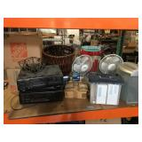 Lot of assorted household items - fans, stereos,