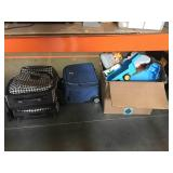 Lot of toys and luggage