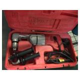 Milwaukee 90 degree electric drill with case -