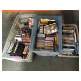 Large lot of dvds and cds