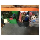 Large lot of assorted household items, Christmas