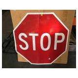 Large size official Clark County STOP sign - bent