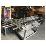 Lot of metal shelving NSF supports and 1 shelf