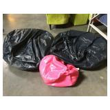 3 bean bag chairs - 2 large and 1 small