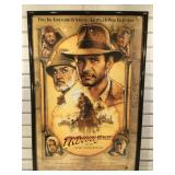 1989 Indiana Jones movie poster, framed to 25 x