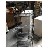 5 foot tall metal collapsible shelf