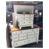 Stained and painted wood bedroom set - dresser,