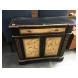35 in long wood hall table with drawer and
