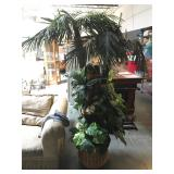 Approx. 6 foot tall faux palm tree water feature