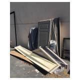Plastic outdoor shed - disassembled
