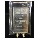 10 oz. .999 Fine Silver Bar, NTR METALS