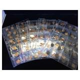 Collection of 160 Wheat Pennies in coin sheets