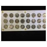 Plaque set of Proof  Jefferson  Nickels, (24
